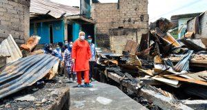 Wagub Kepri Tinjau Korban Kebakaran di Lubuk Baja