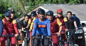Kapolres Bintan Gowes Bersepeda Bersama Anggota